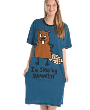 Sleeping Dammit Beaver Nightshirt