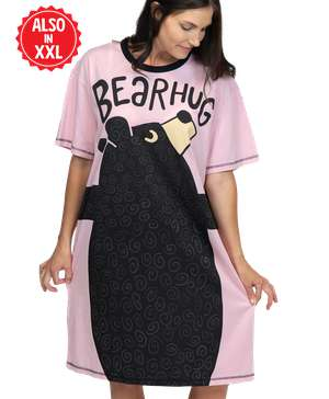 Bear Hug Pink Women's Nightshirt