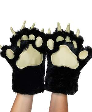 Black Bear Kid and Adult Paw Mitt