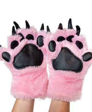 Pink Bear Kid and Adult Paw Mitt