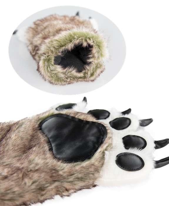 LazyOne Wolf Paw Slippers
