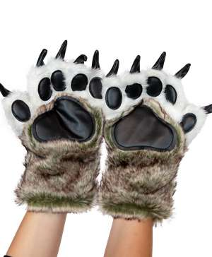 Wolf Kid and Adult Paw Mitt