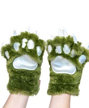 Green Dino Kid and Adult Paw Mitt