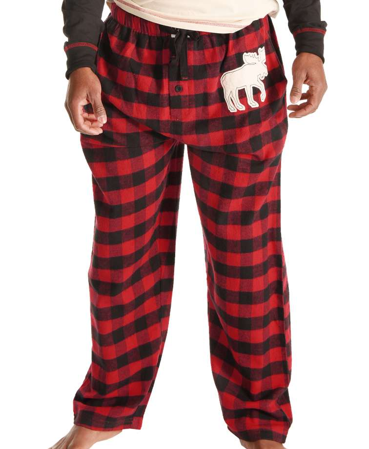 Moose Plaid Men's PJ Pant