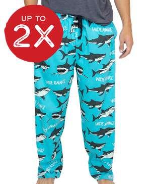 Wide Awake Shark Men's PJ Pant