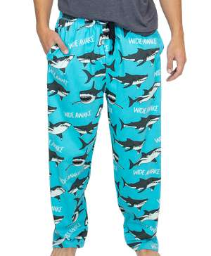 Wide Awake Shark Men's PJ Pant