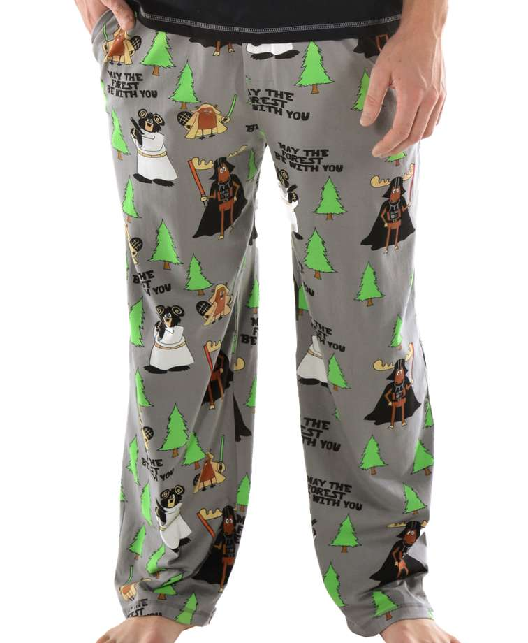 Forest Be With You Men's Moose PJ Pants