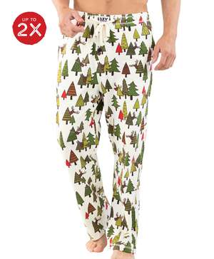 No Peeking Reindeer Men's PJ Pant