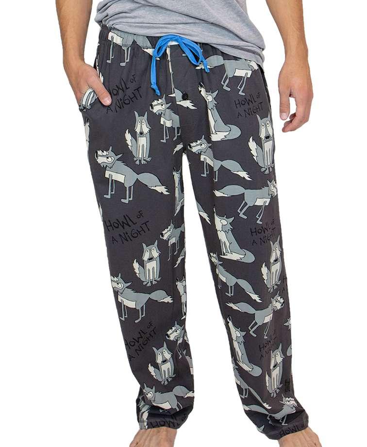 Howl Night Wolf Men's PJ Pant