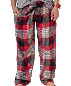 Country Plaid Flannel Men's PJ Pants