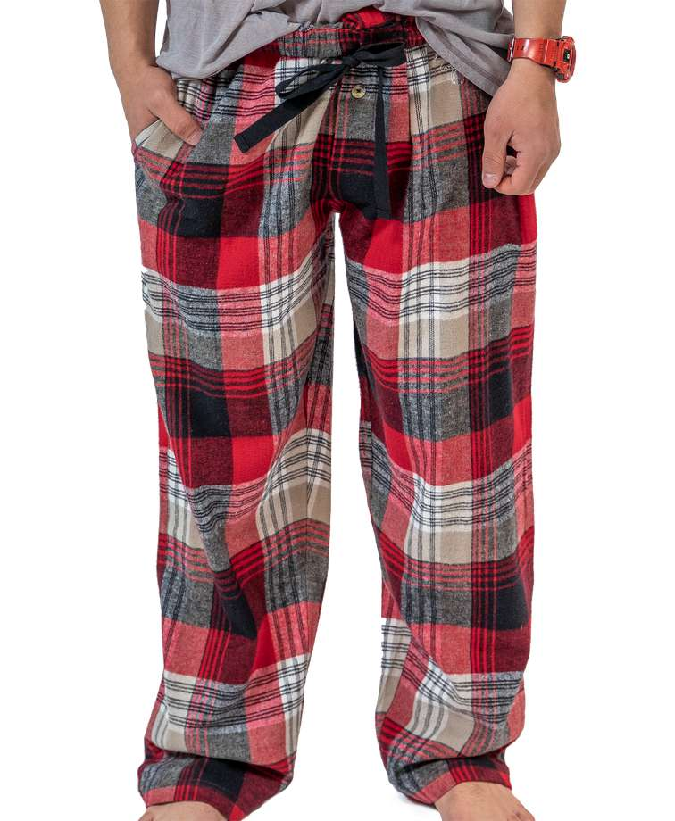 Country Plaid Flannel Men's PJ Pants