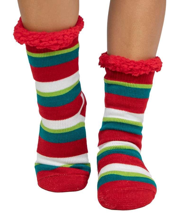 Stripe Plush Sock
