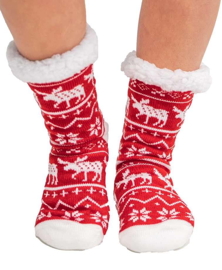 Nordic Moose Plush Sock