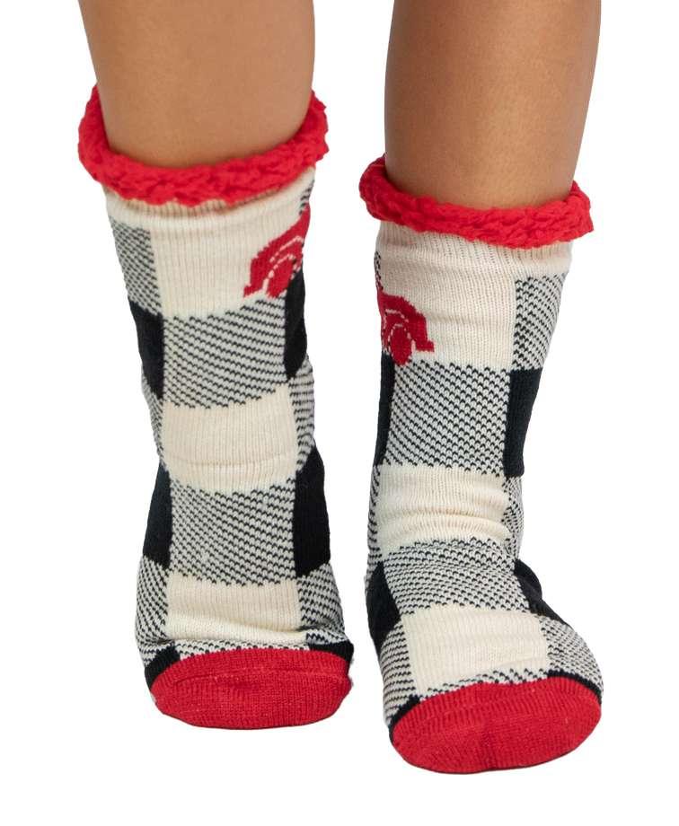 Truck Plaid Plush Sock