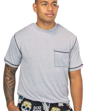 Heather Grey Men's PJ Pocket Tee