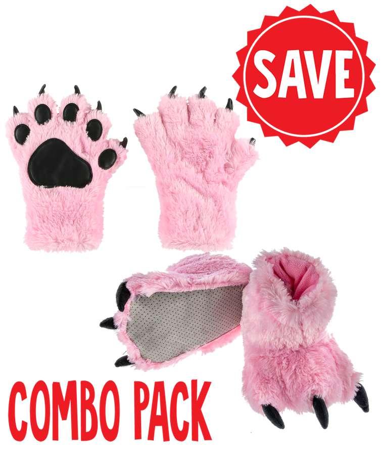 Pink Bear Paw Set