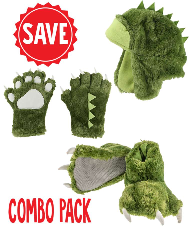 Green Dino Kid and Adult Wild Thing Combo Pack