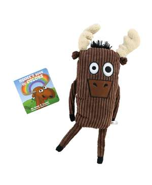 Moose's Book of Colors Children's Book and Moose Critter Pet