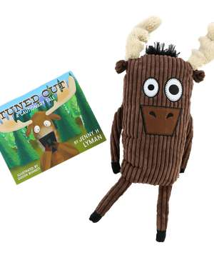Tuned Out Children's Book and Moose Critter Pet