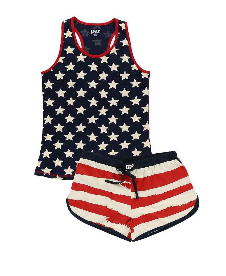 Stars & Stripes Women's Tank & Short Set