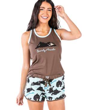 Bearly Awake Women's Tank & Short Set