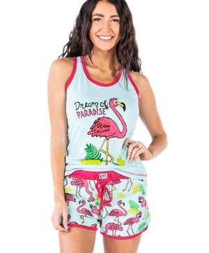 Dream Of Paradise Women's Flamingo Tank & Short Set