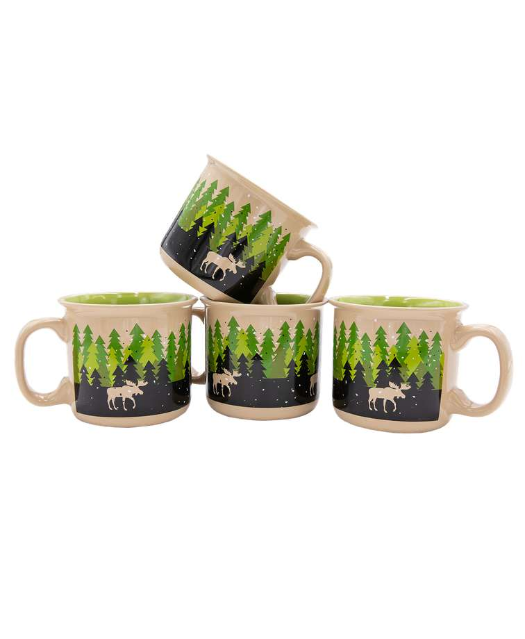 Forest Ceramic Mug 4 Pack