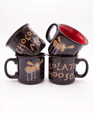 Chocolate Moose Ceramic Mug 4 Pack