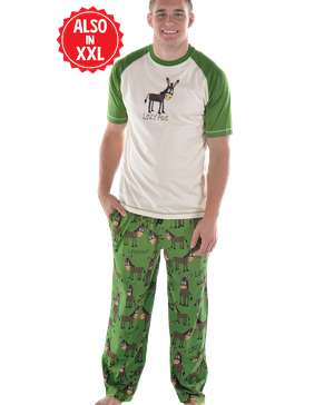 Lazy Ass Men's Donkey PJ Set