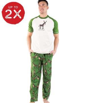 Lazy Ass Men's Donkey PJ Set