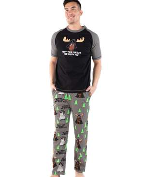May The Forest Be With You Men's Moose PJ Set
