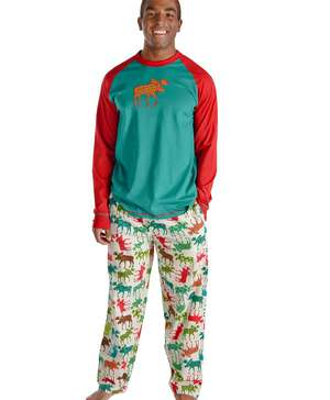 Pattern Moose Men's Long Sleeve PJ Set