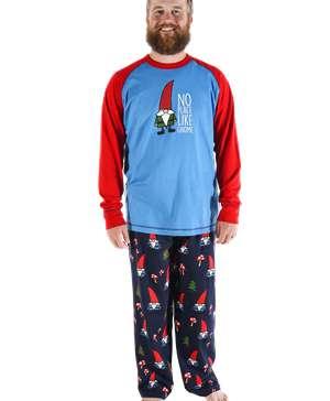 No Place Like Gnome Men's Long Sleeve PJ Set