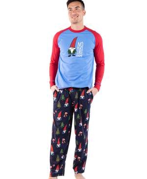 No Place Like Gnome Men's Long Sleeve PJ Set