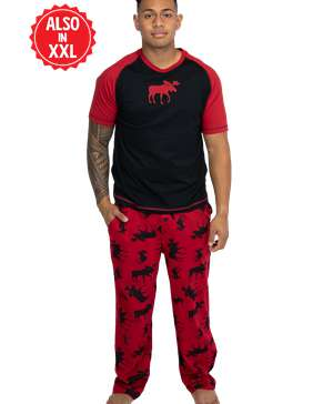 Classic Moose Red Men's PJ Set