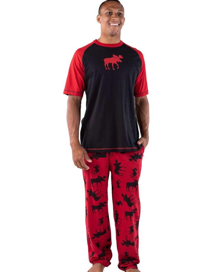 Classic Moose Red Men's PJ Set