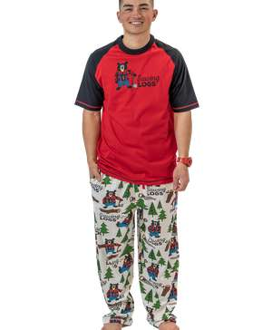 Sawing Logs Men's Bear PJ Set