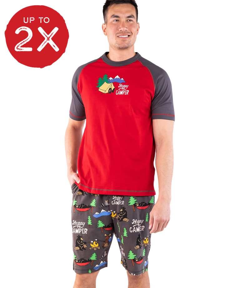 Happy Camper Men's Pajama Short Set