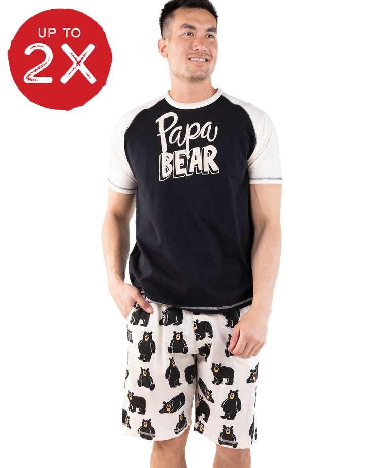 Papa Bear Men's Pajama Short Set