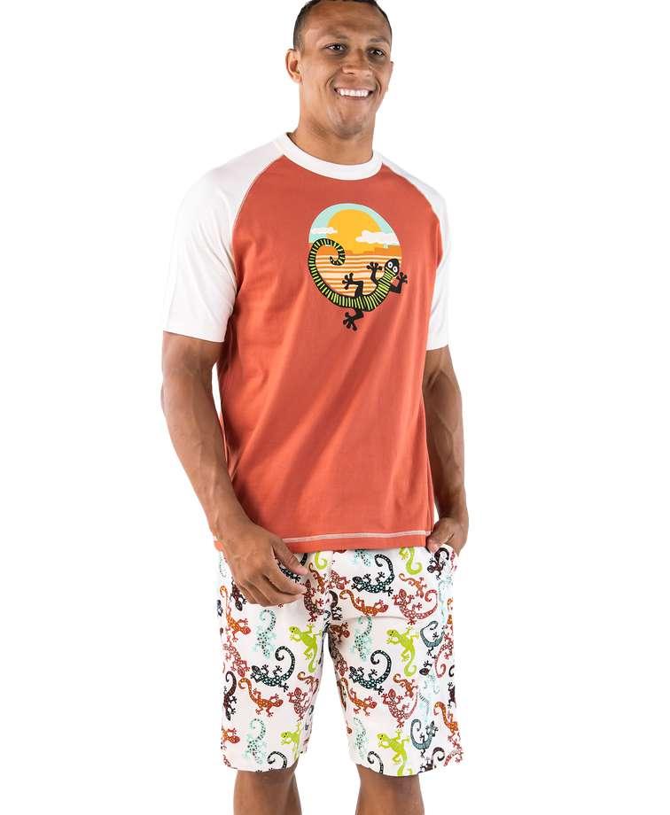 Gecko Men's Pajama Short Set