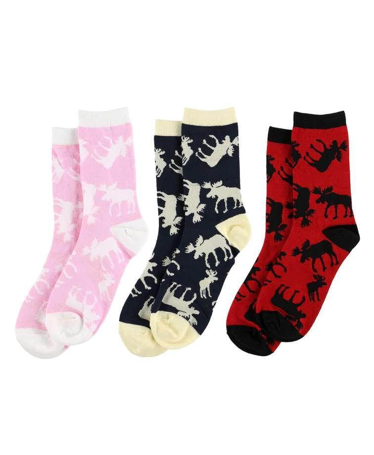 Classic Moose Sock 3 Pack
