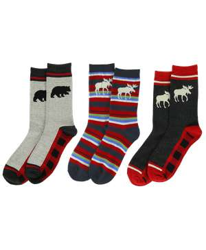 Bear & Moose Sock 3 Pack
