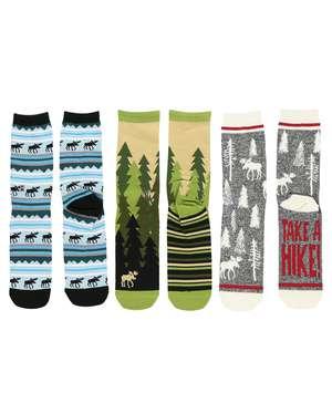 Outdoor Moose Sock 3 Pack