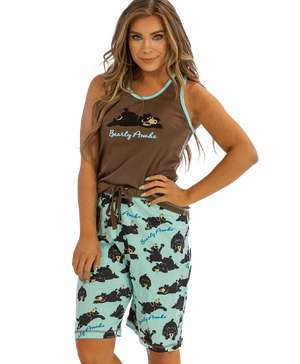Bearly Awake Women's Bermuda Short Set