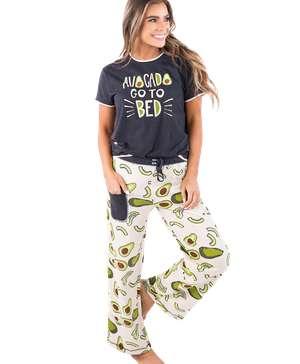 Avocado Go To Bed Women's Regular Fit PJ Set