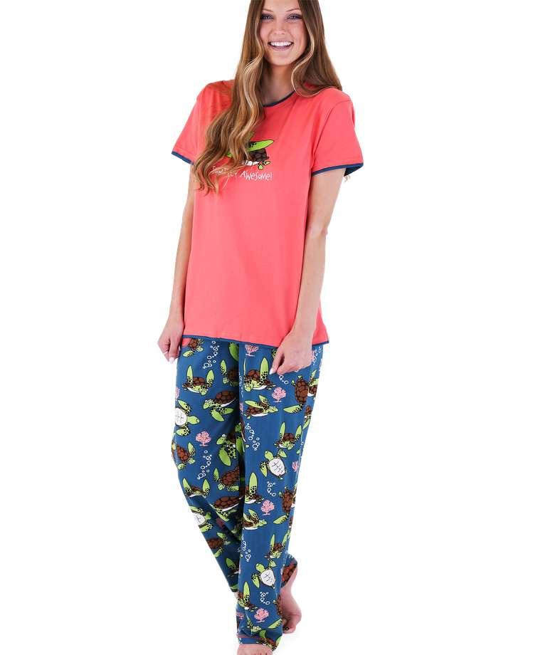 Turtley Awesome Women's Regular Fit PJ Set (C)