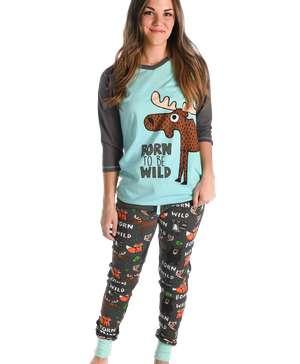 Born To Be Wild Women's Moose Legging Set