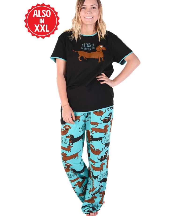 Long To Be Around You Women's Regular Fit Dog PJ Set