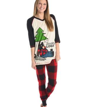 Sawing Logs Women's Bear Legging Set
