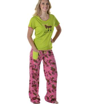Don't Moose With Me Women's Fitted PJ Set